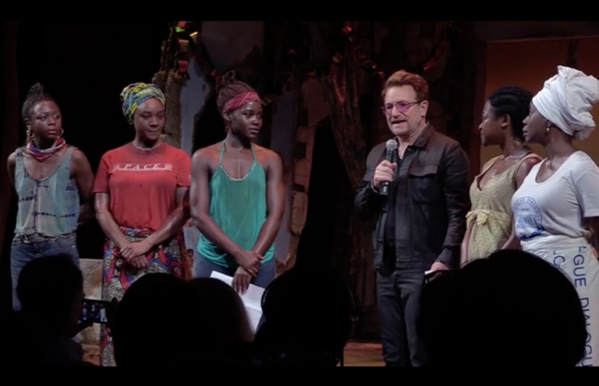 Bono Joins Lupita Nyong'o At Broadway's 'Eclipsed' Show To Raise Awareness About Missing Girls In Nigeria Here's Another Reason To Sing Bono's Praises