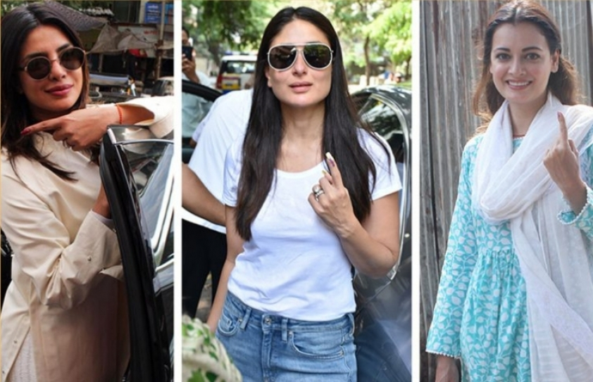 Bollywood casts their votes in the Lok Sabha 2019 Election