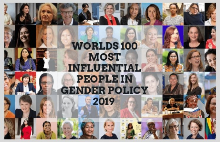 These are the world's 100 most influential people in gender policy this year, researchers say.