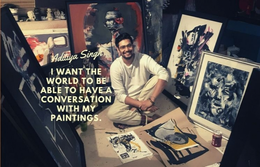 Conversations with Aditiya Singh's Canvas'