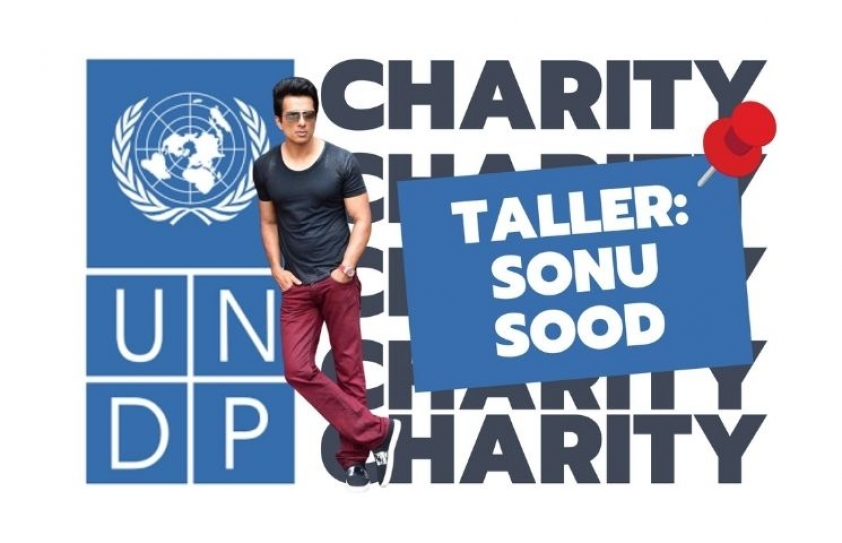 Taller with the UNDP Award: Sonu Sood